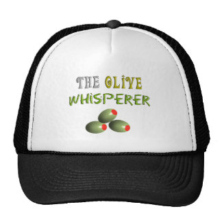 "Olive Lovers Gifts ""The Olive Whisperer"" Trucker Hat"