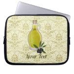 Olive Oil Bottle and Damask Pattern Computer Sleeves
