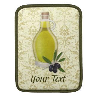 Olive Oil Bottle and Damask Pattern MacBook Sleeve