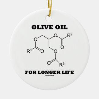Olive Oil For Longer Life (Molecule) Christmas Ornament