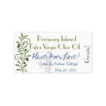 Olive Oil Label Sticker