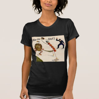 Olive Oil Out olive playing baseball T-Shirt