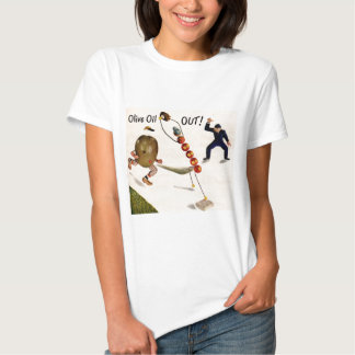 Olive Oil Out olive playing baseball Tee Shirt