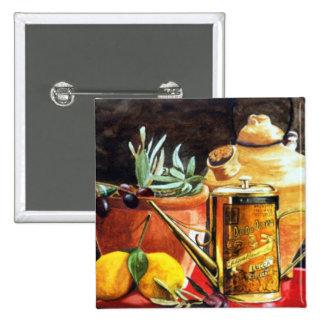 Olive Oil Pinback Button