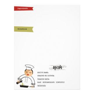 Olive oil pouring woman chef recipe letterhead