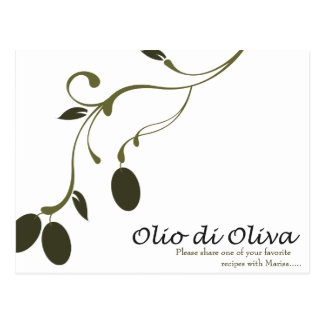 Olive Oil Recipe Card Post Cards