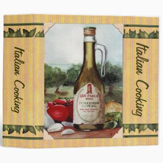 Olive Oil Still Life Recipes Binder