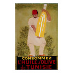 Olive Oil Vintage Food  Ad  Art Poster