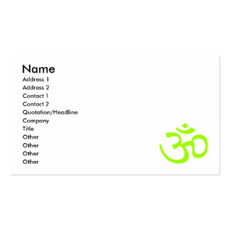 Olive Om or Aum ॐ.png Business Card Template