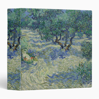 Olive Orchard by Vincent Van Gogh 3 Ring Binders