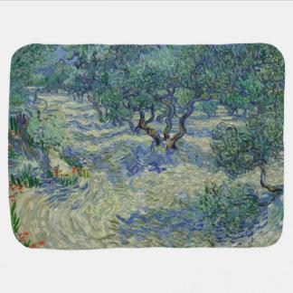 Olive Orchard by Vincent Van Gogh Swaddle Blankets