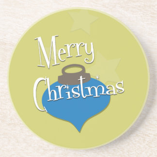 Olive Ornament Christmas Coaster