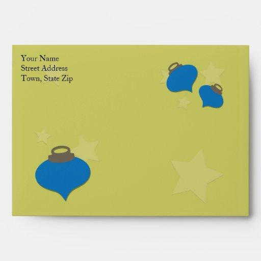 Olive Ornament Christmas Envelope