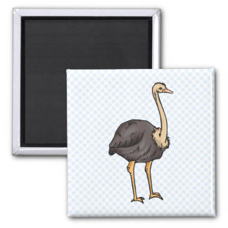 Olive Ostrich 2 Inch Square Magnet