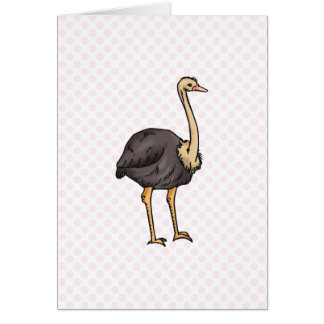 Olive Ostrich Card