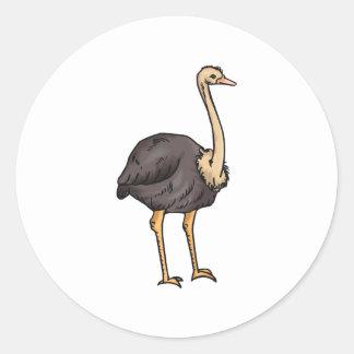Olive Ostrich Classic Round Sticker