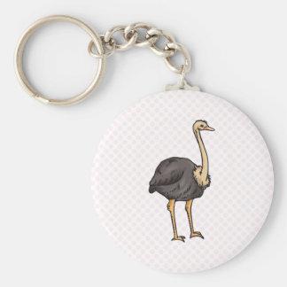 Olive Ostrich Keychain