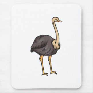 Olive Ostrich Mouse Pad