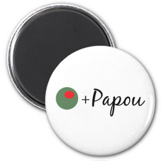 Olive Papou 2 Inch Round Magnet