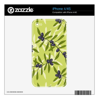 Olive Pattern Decals For iPhone 4