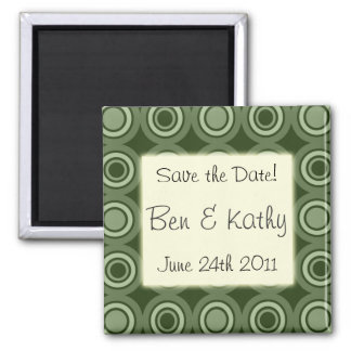 "Olive Pattern ""Save the Date"" Magnet"