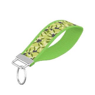 Olive Pattern Wrist Keychain