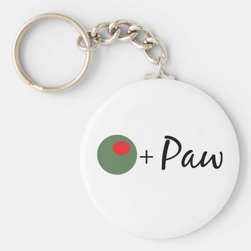 Olive Paw Key Chains