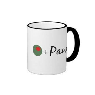Olive Paw Ringer Mug