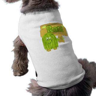Olive Peace Word Pet Tee Shirt