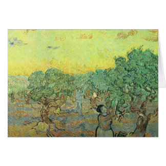 Olive pickers in a grove by Vincent van Gogh Stationery Note Card