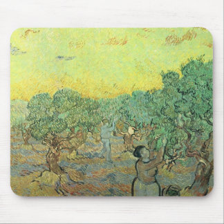 Olive pickers in a grove by Vincent van Gogh Mousepad