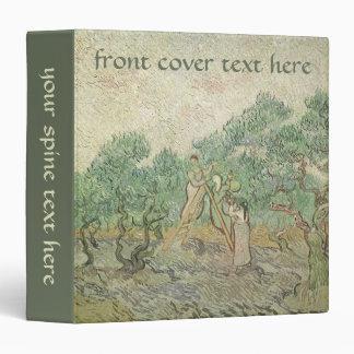 Olive Picking by van Gogh Vintage Impressionism Vinyl Binders