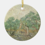 Olive Picking by van Gogh, Vintage Impressionism Christmas Ornament