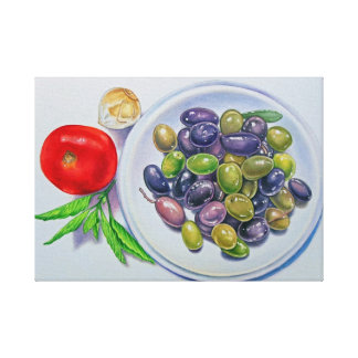 Olive Plate Canvas Print