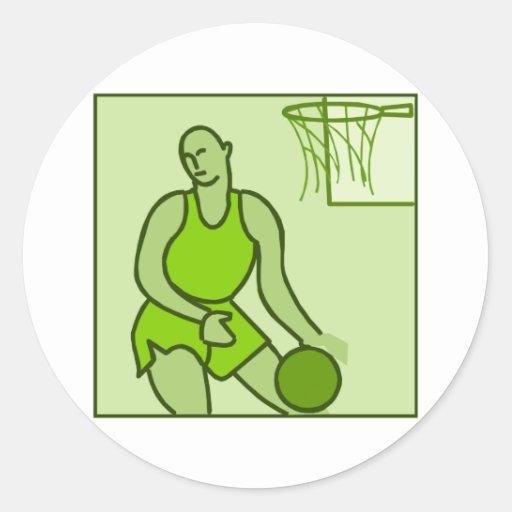 Olive Player Classic Round Sticker