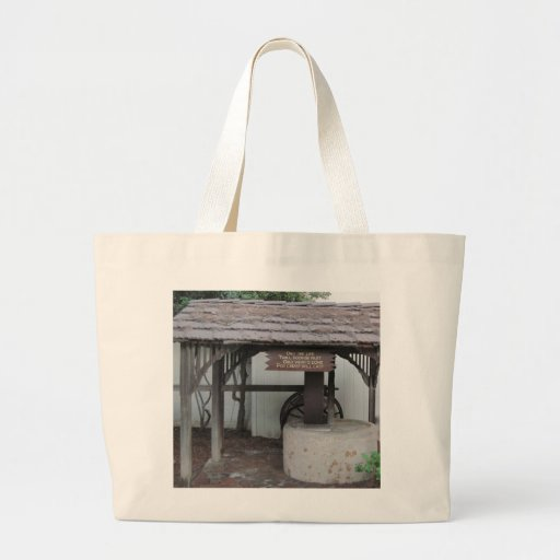 Olive Press at Ventura Mission Canvas Bags