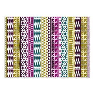 Olive Purple Teal Geo Aztec Tribal Print Pattern Card