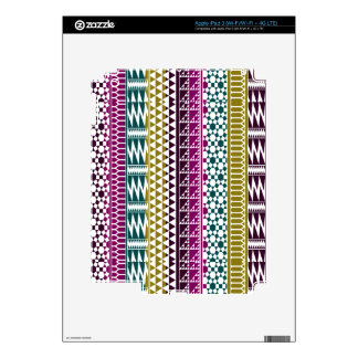 Olive Purple Teal Geo Aztec Tribal Print Pattern Decal For iPad 3