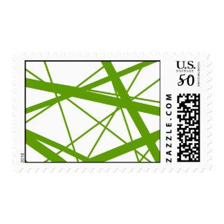 olive random stripes postage