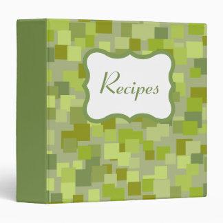 Olive Retro Recipe Binder