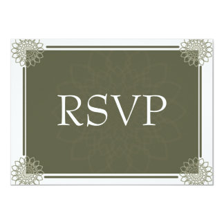Olive Rosettes RSVP Card