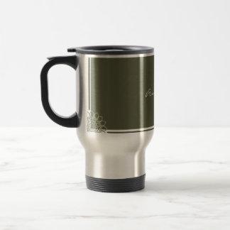 Olive Rosettes Travel Mug