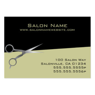 Olive Salon Business and Punch Cards Business Card Templates