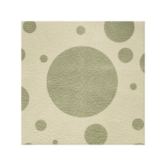 Olive Scattered Spots on Stone Leather Texture Canvas Print