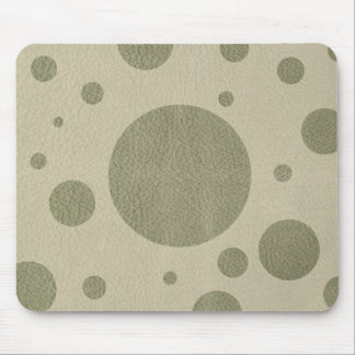 Olive Scattered Spots on Stone leather texture Mouse Pad