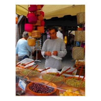 Olive seller French market Postcard