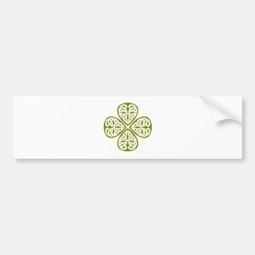 olive shamrock celtic knot bumper sticker