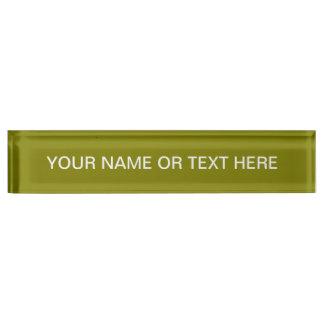 Olive Solid Color Desk Name Plate