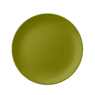 Olive Solid Color Plate