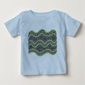 Olive Stripe Baby T-Shirt